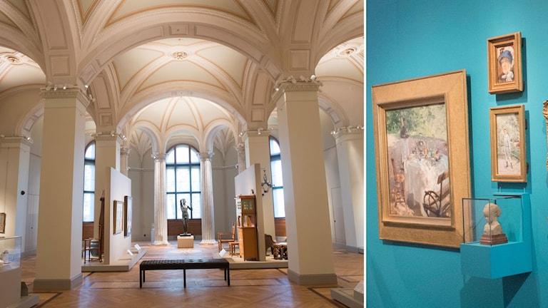 Nationalmuseum i Stockholm, som snart öppnar efter renoveringen. Över trehundra igensatta fönster har åter tagits upp och mängden föremål som visas har mångdubblats i rum som varierar i färgsättning. Renoveringen har varit nästan 5 år lång till en kostnad av 1,2 miljarder.