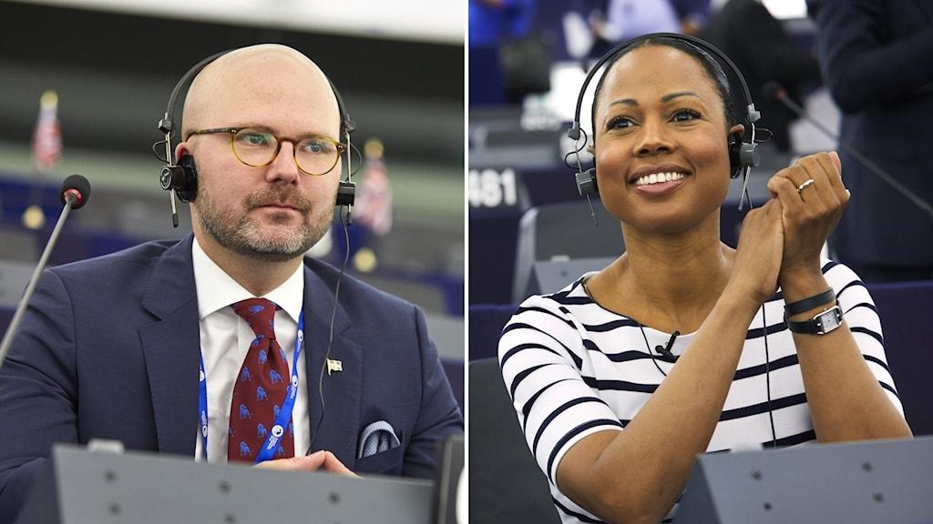EU-parlamentarikerna Charlie Weimers (SD) och Alice Bah Kuhnke (MP) om EU:s migrationspolitik