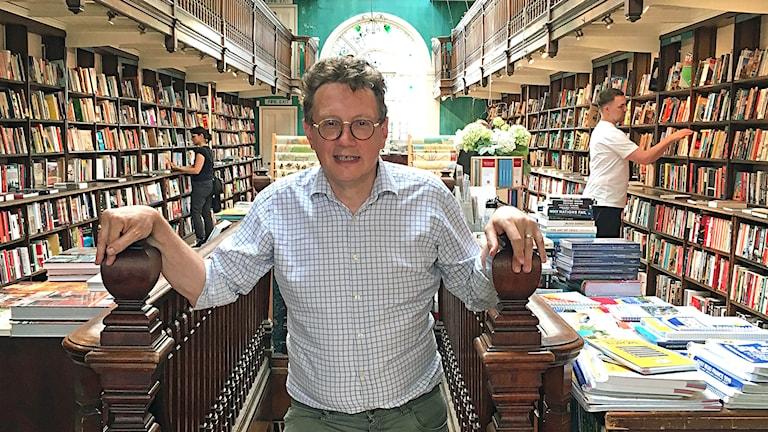 Brett Wolstencroft, föreståndare för bokhandeln Daunt Books