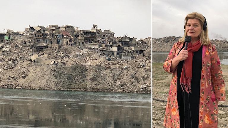 Sveriges Radios korrespondent på plats vid floden Tigris i östra Mosul.