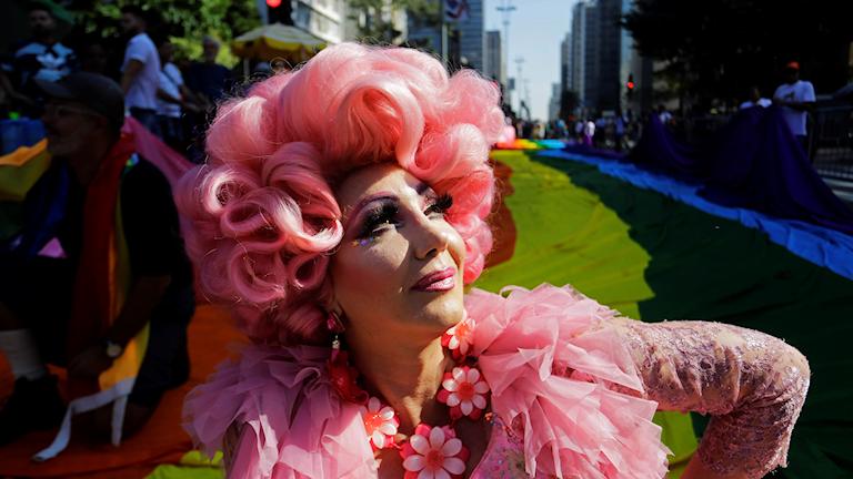 Pride-festival i Sao Paolo, Brasilien.