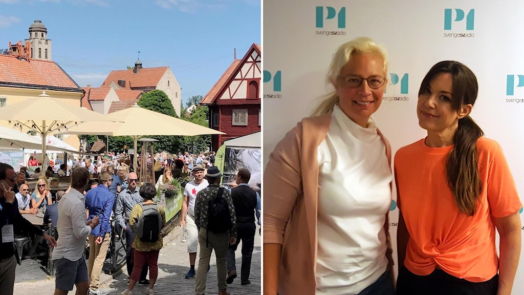 Almedalen 2019. Jenny Lindahl och Carolin Dahlman.