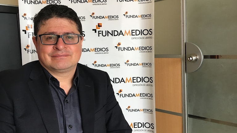 César Ricaurte är ordförande för organisationen Fundamedios som bevakar pressfriheten i Ecuador.