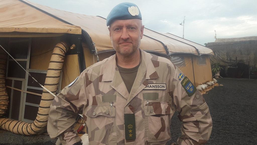 Anders G Johansson, överstelöjtnant och samverkans officer svenska förbandet i Mali.