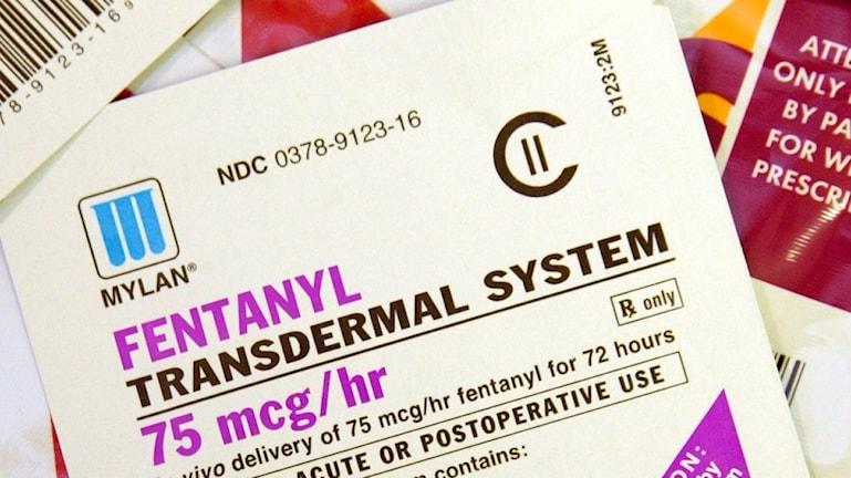 Fentanyl är ett smärtstillande läkemedel tio gånger starkare än heroin.