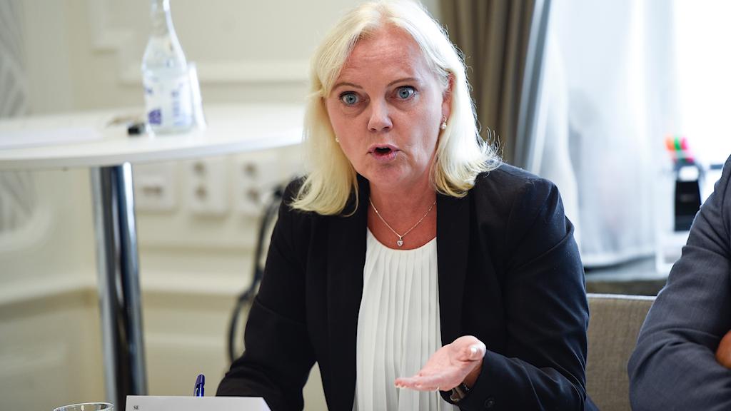 Kristina Winberg, Sverigedemokraternas fjärdenamn i EU_valet, petas.
