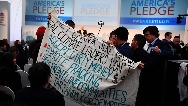 USA:s nya kurs i klimatfrågan har varit ett orosmoment och väckt protester på klimatmötet i Bonn.