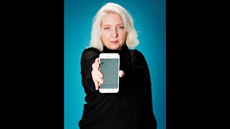 Bibi Good var först i Sverige med att använda hashtaggen #metoo. Nu är hon del i en utställning på Tekniska museet.