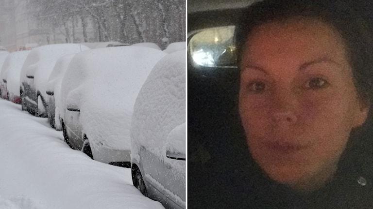 Jennifer Lovehav satt fast i fjorton timmar i trafiken.