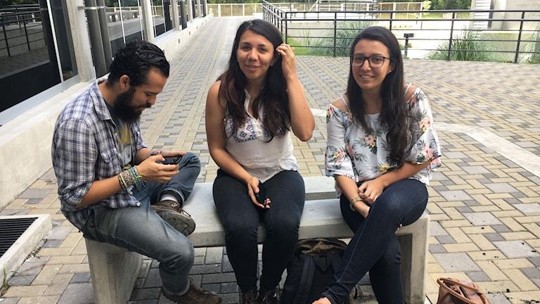 Tomás Huertas, Angélica Castro och Noelia Esquivel studerar journalistik i Costa Rica, som ofta toppar listor över pressfrihet i Latinamerika.