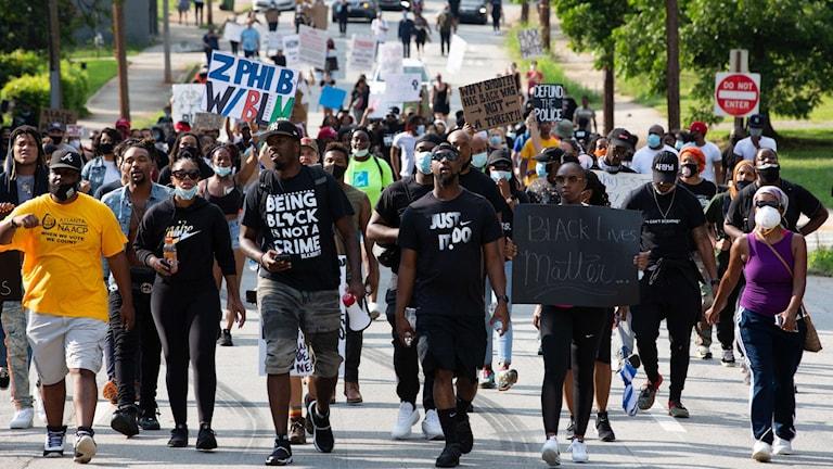 Black Lives Matter-protester i Atlanta.