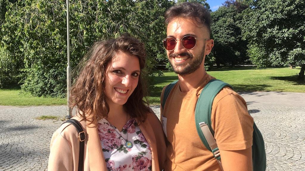 Tursitparet Julia och Andrea från Italien.