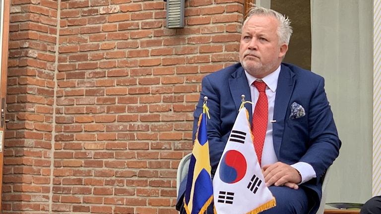 Sveriges särskilde sändebud till Koreahalvön, Kent Härstedt, i Seoul