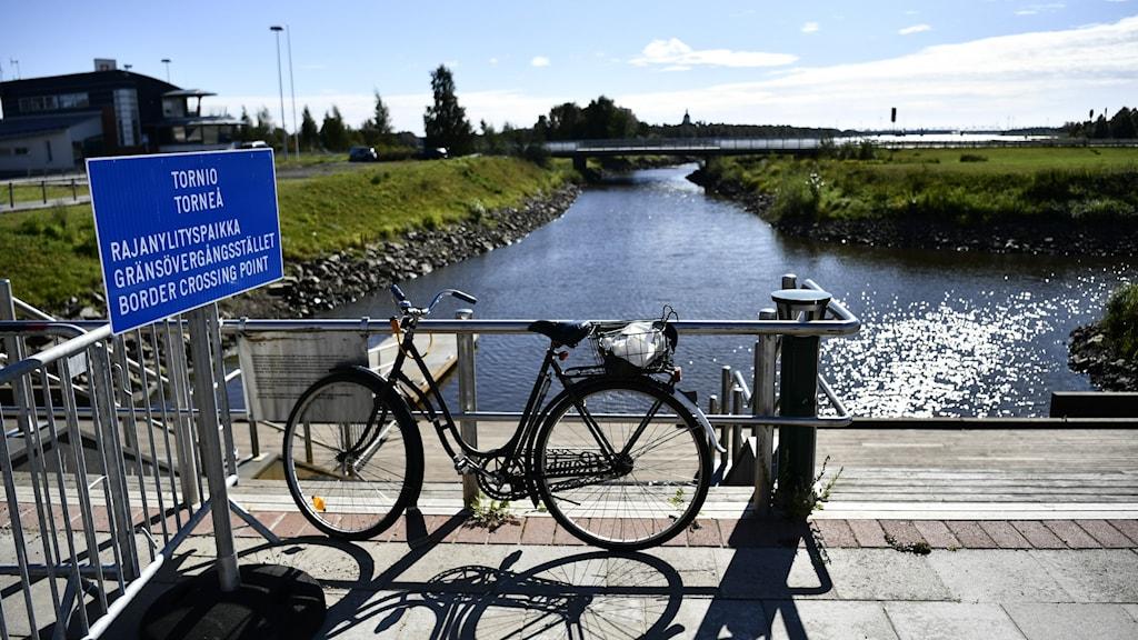 Gränsövergången mellan Sverige och Finland i Haparanda.