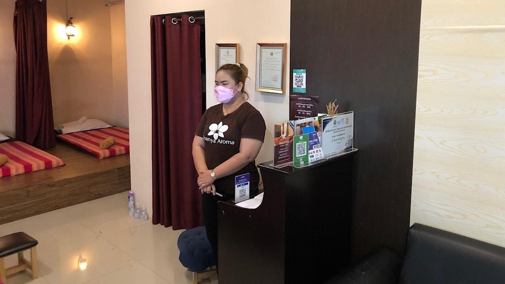 Inga kunder får komma in på massage i Thailand