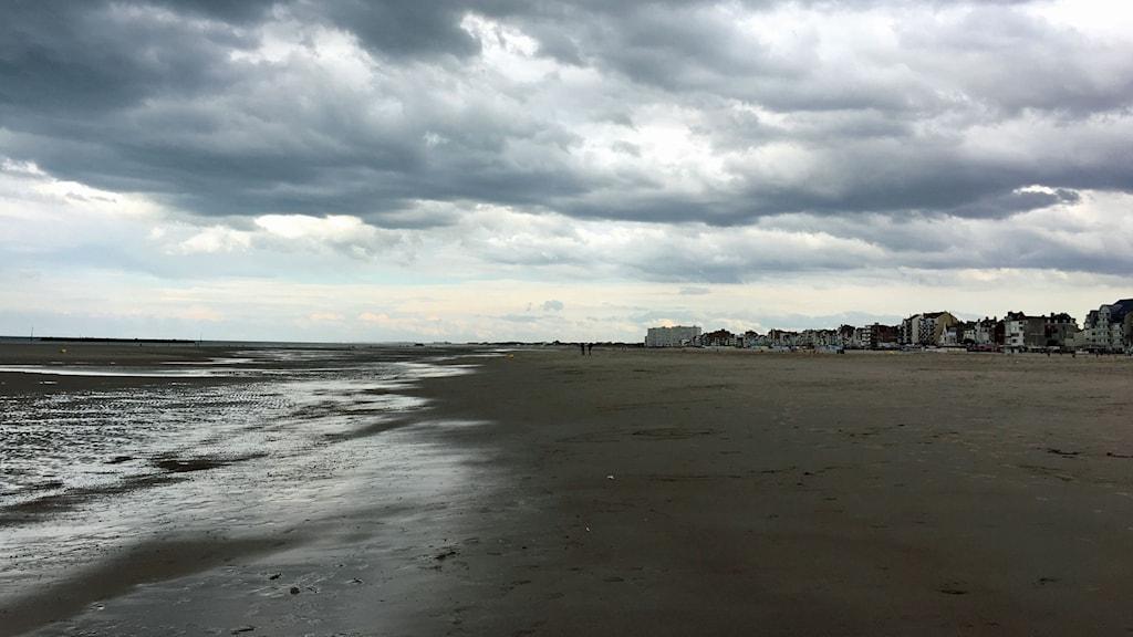Dunkerques strand idag. Det var härifrån massevakueringen av brittiska soldater skedde i maj 1940.