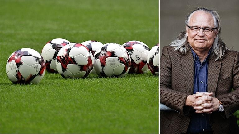 Fotbollar och Torbjörn Vestberg.