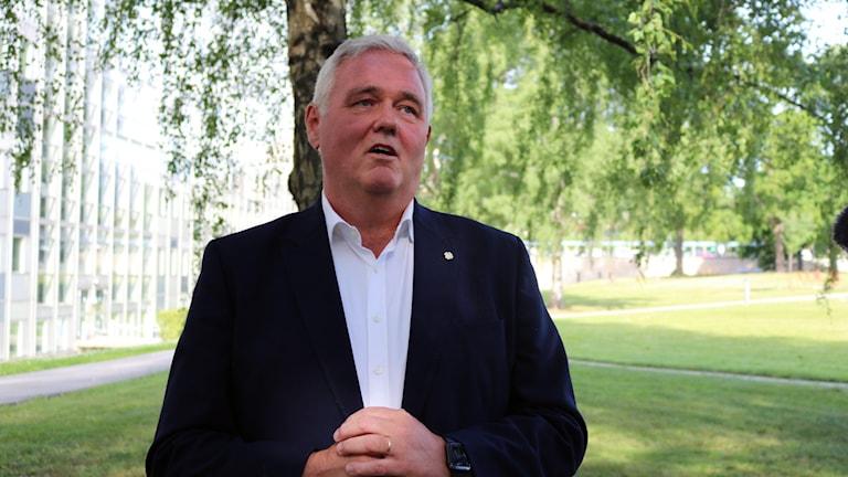Anders W Jonsson, Centerpartiets vikarierande partiledare.