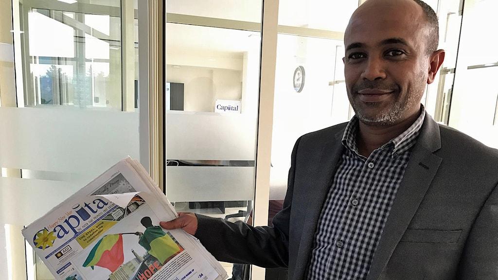 Groum Abate, chefredaktör på tidningen The Capital.