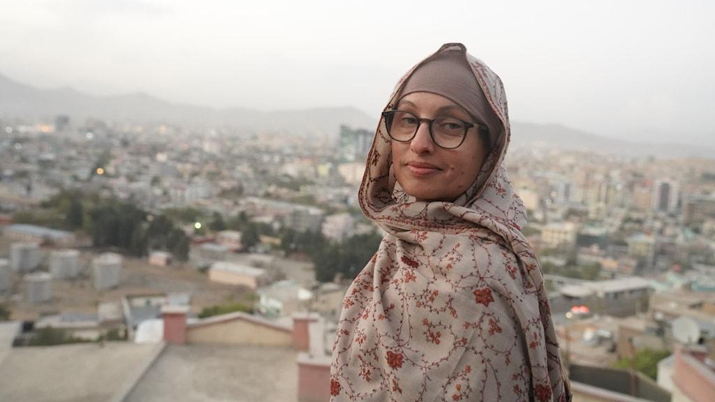 Naila Saleem på plats i Afghanistans huvudstad Kabul.