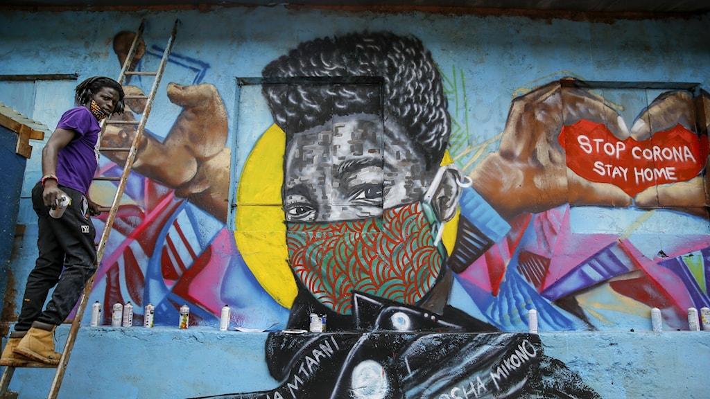 Graffite i Kenya.