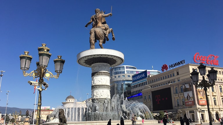 Staty i huvudstaden Skopje.
