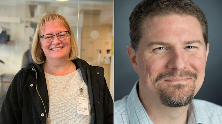Sjuksköterskan Eva Höglund tappade allt luktsinne när hon var sjuk i corona. Johan Lundström är luktforskare vid Karolinska institutet.