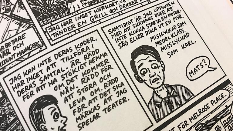 """Urklipp ur """"Nya Norrland"""" av serietecknaren Mats Jonsson."""