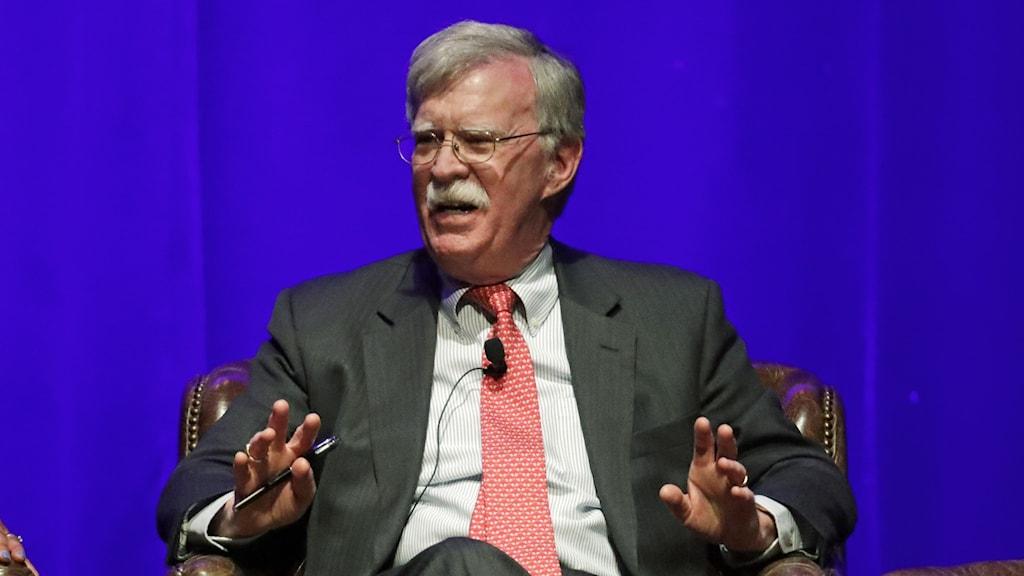 USA:s tidigare nationella säkerhetsrådgivare John Bolton.