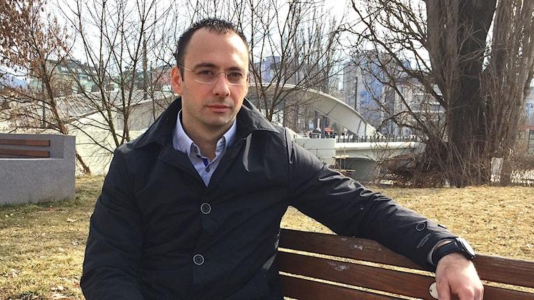 Kosovoserbien Igor Simic säger att han aldrig kommer att se Hashim Thaci som sin president.