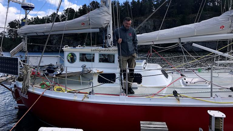 Anders Eriksson på segelbåten Malala
