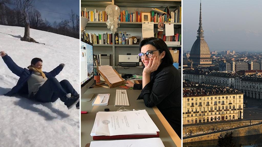 Efter ett år av hemarbete återgår nu journalisten Monica Perosino, i den italienska staden Turin, till sin arbetsplats på tidningen La Stampa.