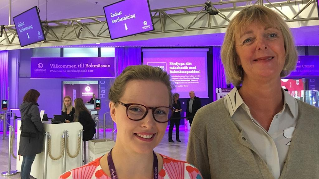 Johanna Stenlund och Elisabeth Skog.