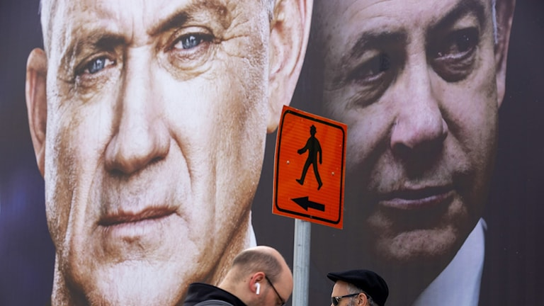 Benny Gantz och Benjamin Netanyahu.
