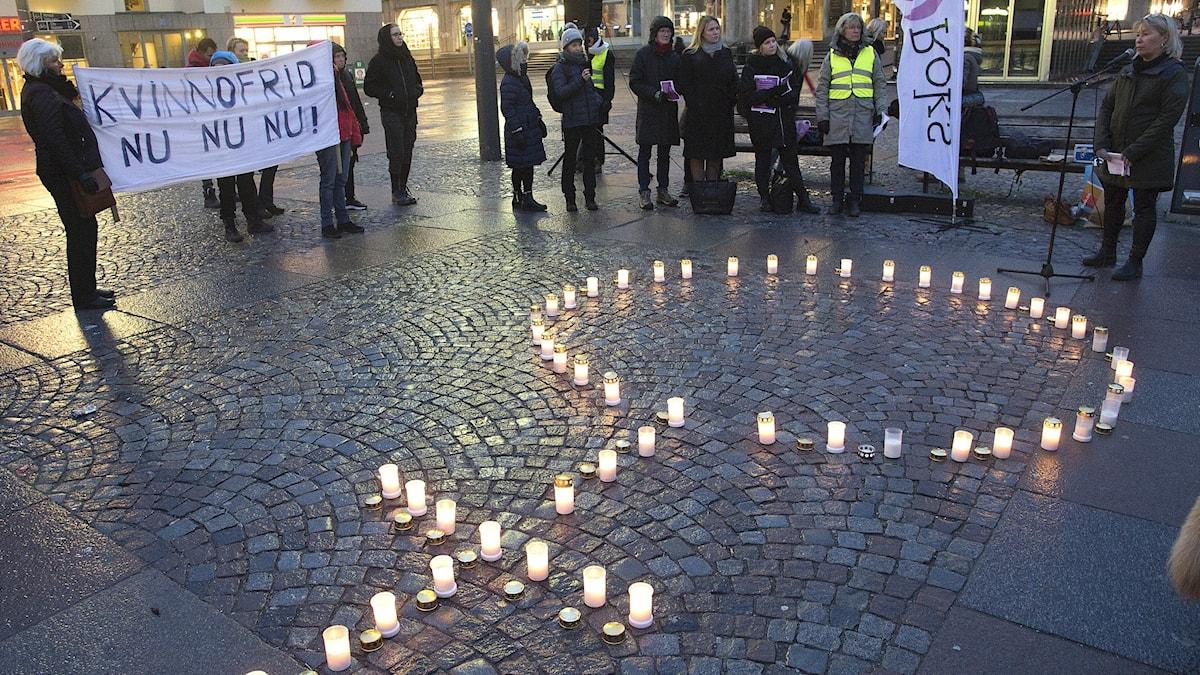 Arkivbild. Manifestation i Stockholm under 2018 mot mäns våld mot kvinnor.