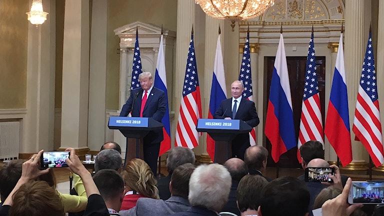 Under Vladimir Putins och Donald Trumps gemensamma presskonferens nyligen förnekade Putin att Ryssland skulle ha något med det amerikanska valet att göra.