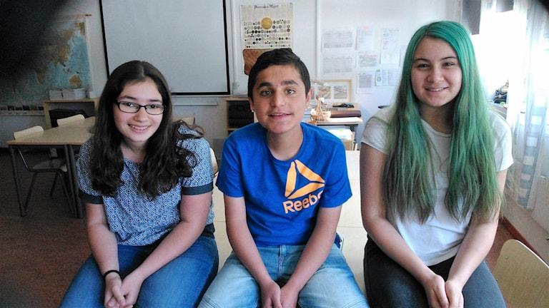Från höger: Mikaela Sabor, Miran Inal och Selin Polat.