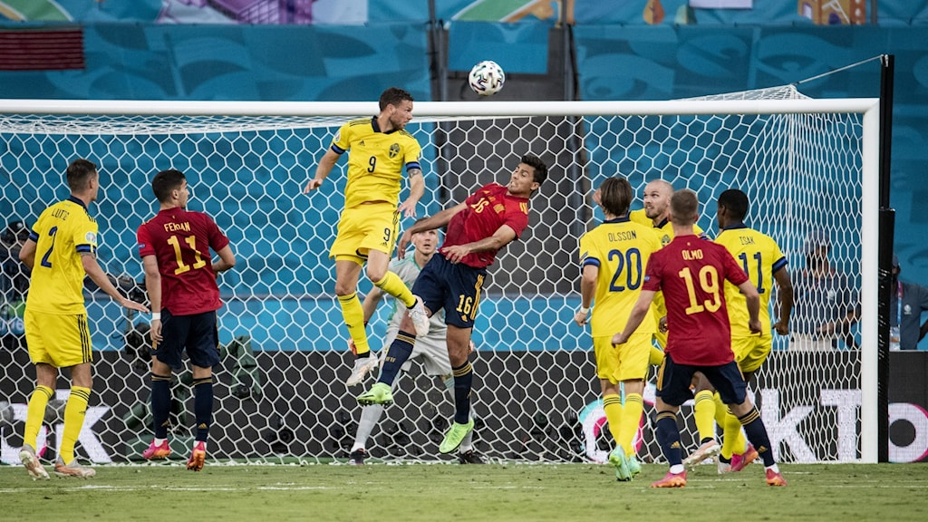 fotbolls-EM Sverige-Spanien
