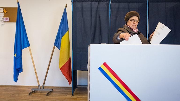 Vallokal i Rumänien.