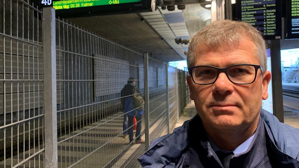 Polismästare Michel Mattson, före detta chef för gränspolisen i område syd på Hyllie station.