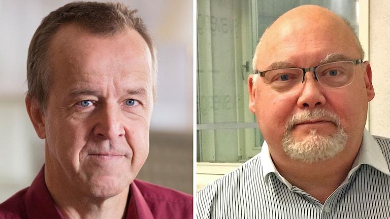 Ove Andersson, andre vice ordförande Läkarförbundet och Lars-Åke Brattlund försäkringsdirektör Försäkringskassan,