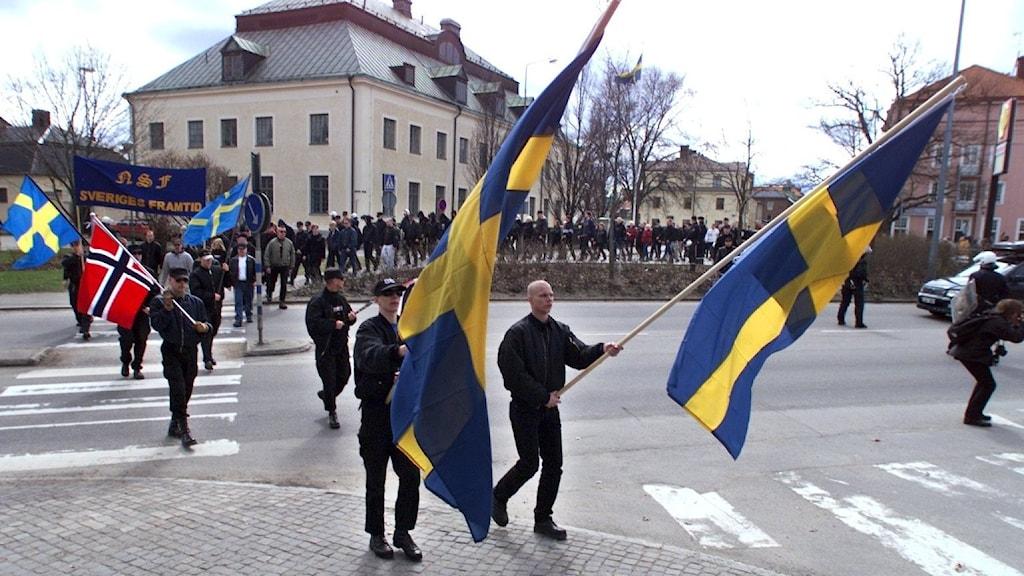 Demonstration i Ludvika, Sverige, 1999