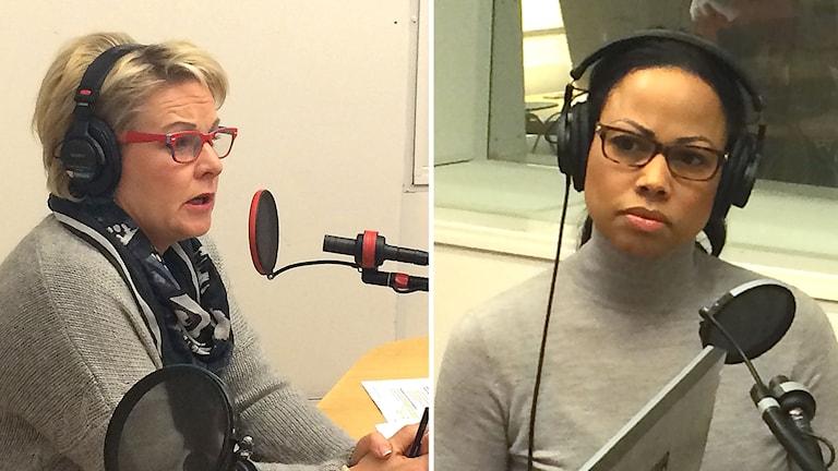 Hillevi Engström, nationell samordnare mot våldsbejakande extremism och Alice Bah Kuhnke, kultur- och demokratiminister