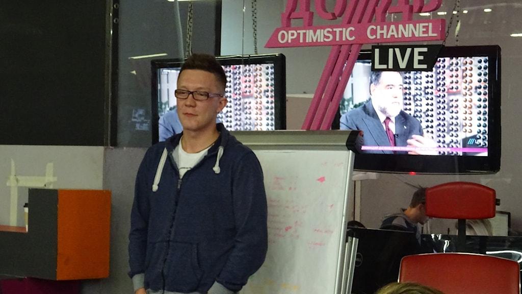 Tv kanalen Dozds reporter Sergej Jesjinkov
