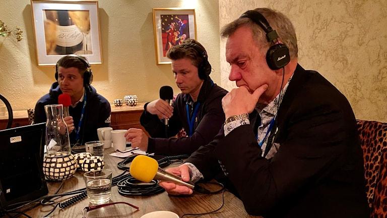 Niklas Karlsson (S), Pål Jonson (M) och Roger Richtoff (SD).