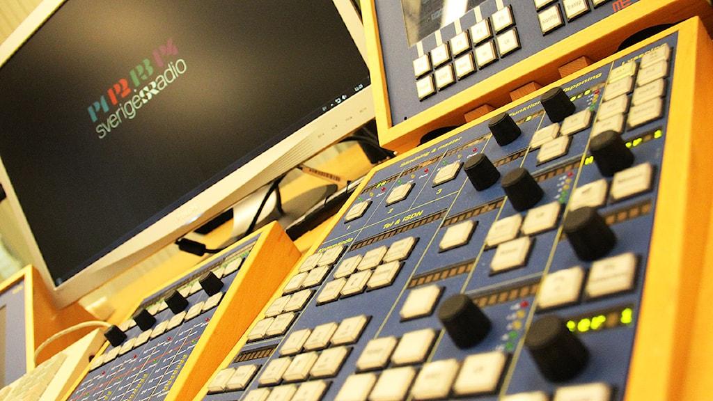 Ett mixerbord. Foto: Lars-Gunnar Olsson/Sveriges Radio.