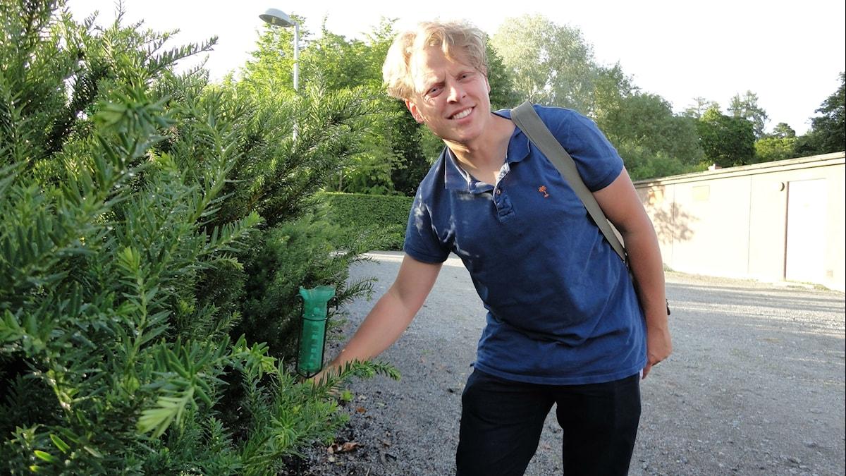 John Lööf Green är trädgårdsförman på SLU vid Ultuna