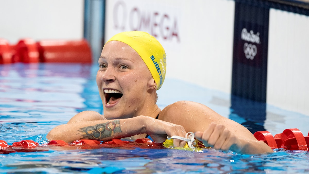 Sarah Sjöström krossade motståndet i semfinalen på 100m fjäril.