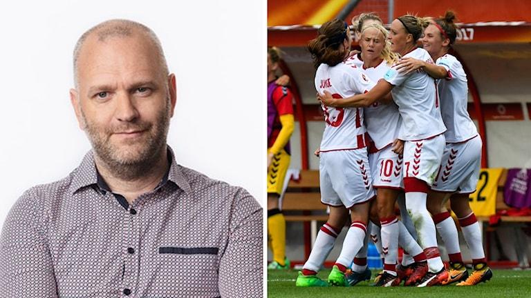 Korrespondent David Rasmusson och Danmarks fotbollslandslag.