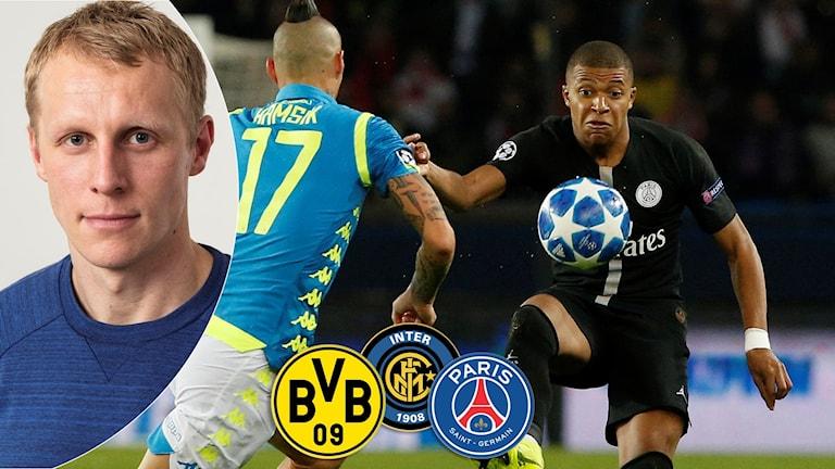 Inför Champions League. Foto: TT och SR